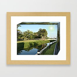 The beautiful natural landscapes with distinctive dimensions Framed Art Print