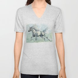 Running arabian horse Unisex V-Neck