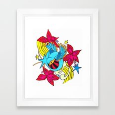 The Musical Swallow Framed Art Print