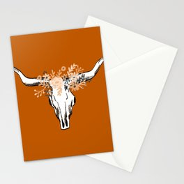Texas University longhorns football college sports team fan Stationery Cards