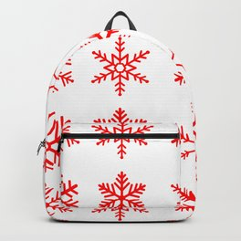red snowflake seamless pattern Backpack