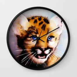 Leopard Cub Wall Clock