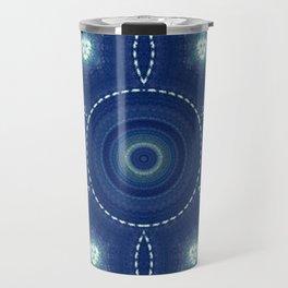 Dark Blue Winter Travel Mug