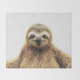 Young Sloth Throw Blanket