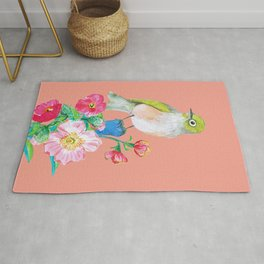 The Silvereye on Peach Pink Rug