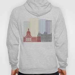 Edmonton skyline poster Hoody