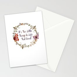 It's The Little Things In Life That Count II - Bagaceous Stationery Cards