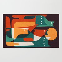 family Area & Throw Rugs featuring Cat Family by Picomodi