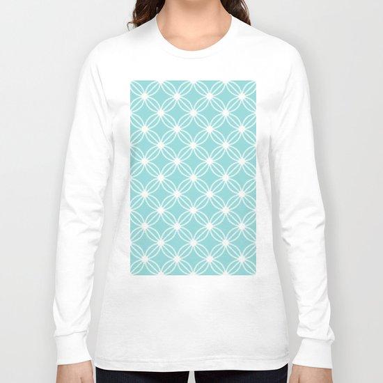Abstract Circle Dots Mint Long Sleeve T-shirt