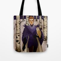 klaine Tote Bags featuring In the Forest by Sweet Peach Tea