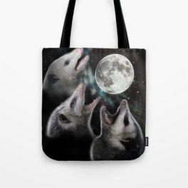 3 opossum moon Tote Bag
