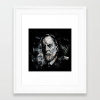 freud Framed Art Prints featuring Freud by Ben Wiseman