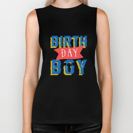 Circus Carnival Birthday Boy Party Apparel Biker Tank