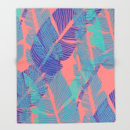 Carved Fluo Jungle #society6 #decor #buyart Throw Blanket