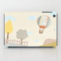 baloon iPad Cases featuring baloon collage by flying bathtub