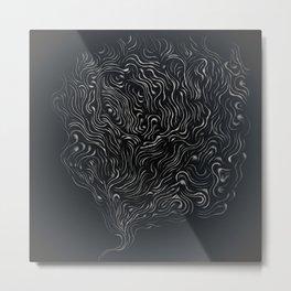 Thoughts in smoke Metal Print