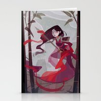 mulan Stationery Cards featuring Mulan by Ann Marcellino