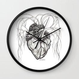 Butterfly Heart Wall Clock