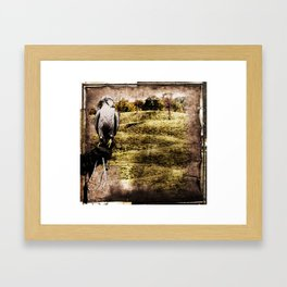 falcon hunt, or freedom to fly Framed Art Print