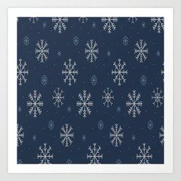 Artistic snowflakes pattern Art Print