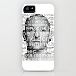 RIP CHESTER iPhone Case