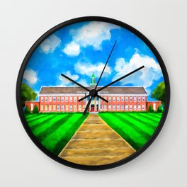 Classic Old Main - Andalusia High School Wall Clock