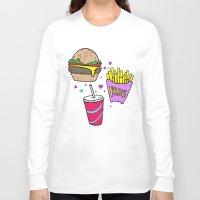junk food Long Sleeve T-shirts featuring Junk Food (Purple) by grackken
