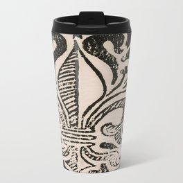 Distressed Fleur-de-Lis Travel Mug