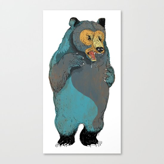 Mr.Grizzly Canvas Print