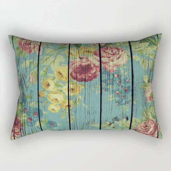 Flowers on Wood 08 Rectangular Pillow