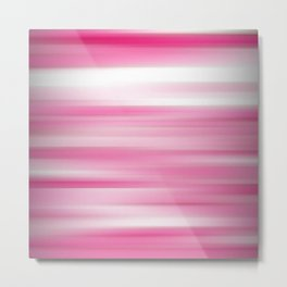 Blush Pink Abstract Modern Contemporary Pattern Metal Print