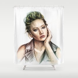 Jennifer Lawrence Shower Curtain
