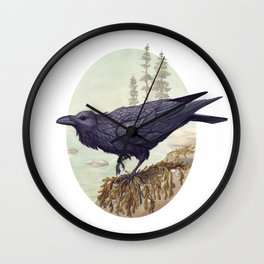 Raven of the North Atlantic Wall Clock