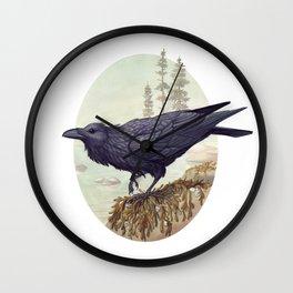 Raven of the North Atlantic Wall Clock