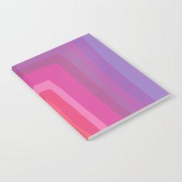Vivid Vibrant Geometric Rainbow Notebook