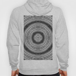 315 - Black and White Abstract Orb design Hoody