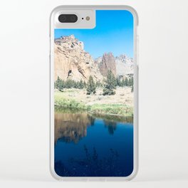 Smith Rock State Park Clear iPhone Case