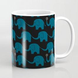 Navy Elephant Parade Coffee Mug