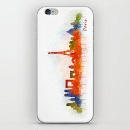 Paris City Skyline Hq v3 iPhone Skin