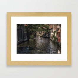 Wet Backdoor Framed Art Print