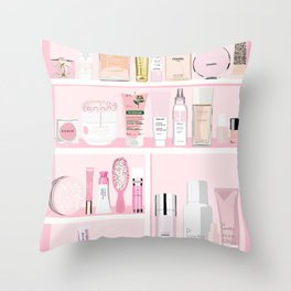 The Pink Medicine Cabinet Throw Pillow