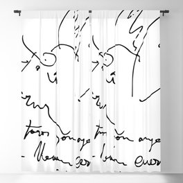 Pablo Picasso Bulls Quote (Angels with horns) Artwork Shirt, Reproduction Blackout Curtain