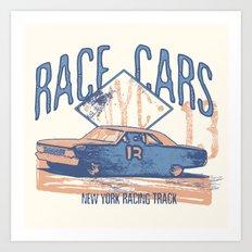 Race cars Art Print