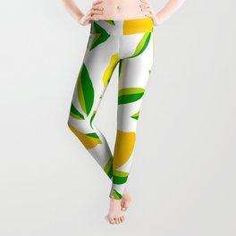 Pop Lemon & green Pattern #summervibes Leggings