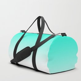 Modern bright simple mint green white color ombre gradient Duffle Bag