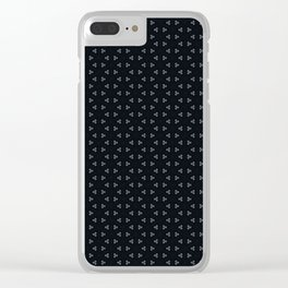 Black small frozen Clear iPhone Case