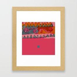 pink&blue3 Framed Art Print