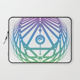 Radiant Abundance (white-cool gradient) Laptop Sleeve
