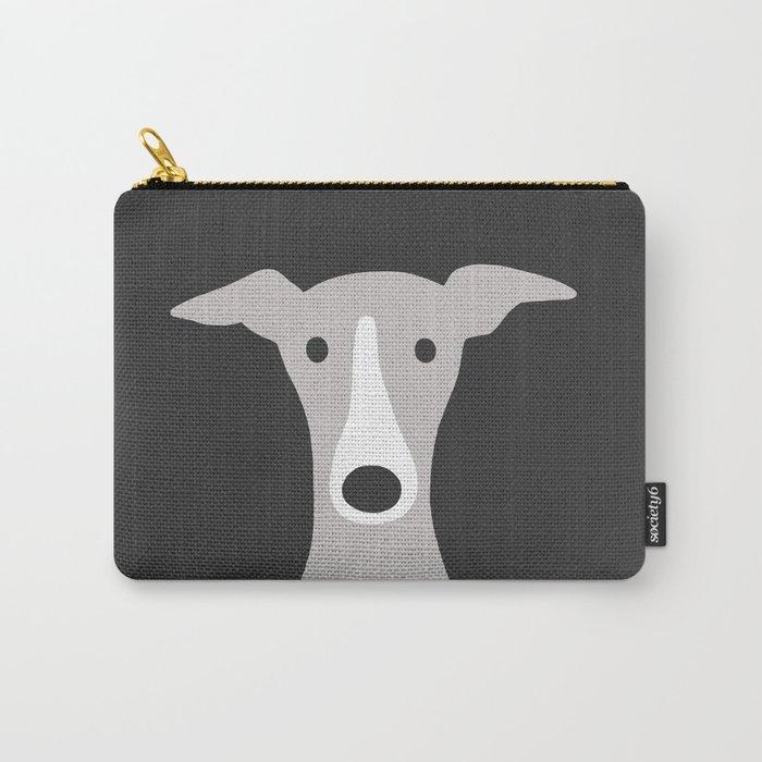 Cute Greyhound / Italian Greyhound Carry-All Pouch