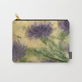 Romantic Thistle Carry-All Pouch